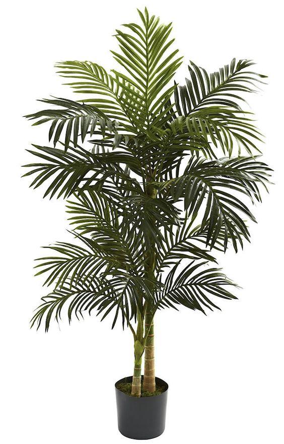 Golden Cane Palm Artificial Silk Tree with Planter | 5 feet