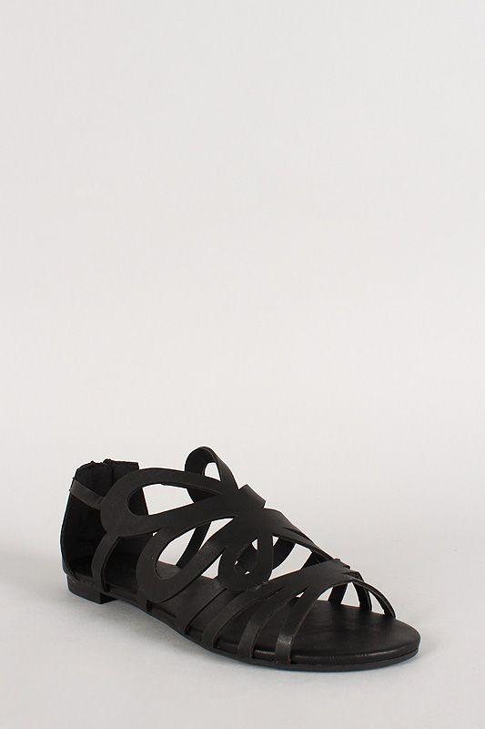 Dollhouse Cut Out Open Toe Flat Sandal