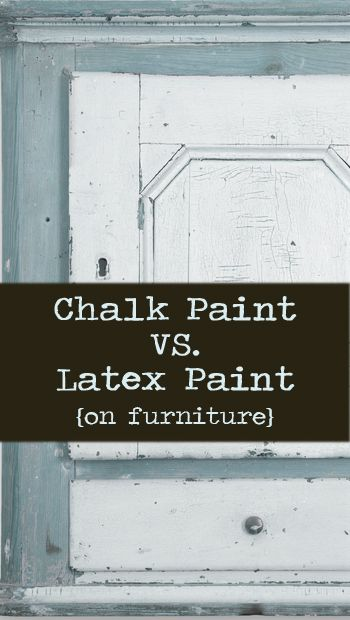 chalk paint vs latex paint on furniture furniture