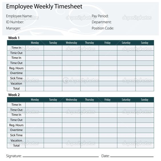 Free Printable Timesheet Templates timesheet template free excel - time sheet templates