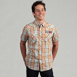 @Overstock - A fresh orange plaid design highlights this casual button-up shirt from The Fresh Brand. Two chest pockets, contrast stitching and a soft cotton construction complete this handsome shirt.   http://www.overstock.com/Clothing-Shoes/The-Fresh-Brand-Mens-Plaid-Woven-Shirt/6539798/product.html?CID=214117 $11.69