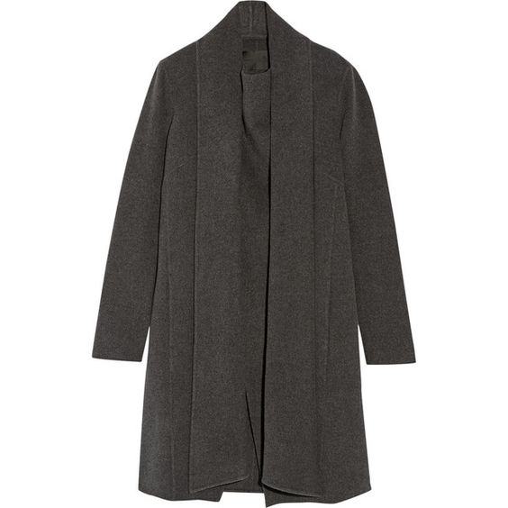 Donna Karan New York Draped cashmere coat (€3.655) ❤ liked on Polyvore
