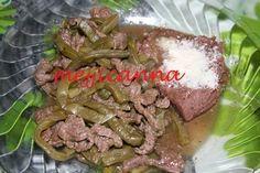 Carne con nopalitos y chile verde: Recipe is in Spanish