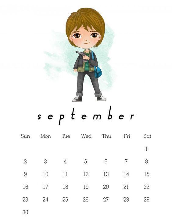 Calendario Dibujo Septiembre.Free Printable 2018 Stranger Things Calendar Stranger