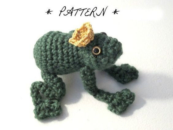 PATTERN for Frog Prince Amigurumi Plush Toy  by lostsentiments,
