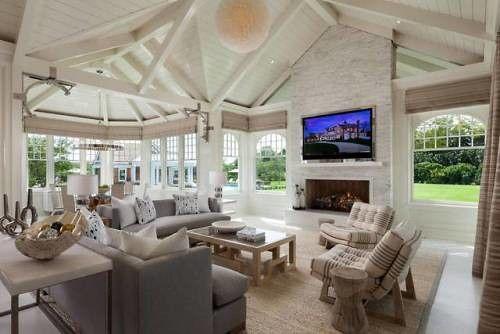 Sunny Living Room In The Hamptons New York Via Reddit Source Mansion Living Room Mansion Living Luxury Homes