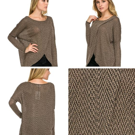 BEST SELLER ALERT! Nymphe Tunic - One of my favorite pieces! Classic taupe and black tunic, with a stylish twist! This soft tunic by Nymphe is flattering in so many ways! Pair with black pants for work, or jeans for your dinner date. #shoprefined #falltrend #classicstyle #bestseller