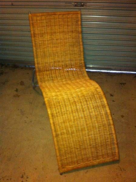 Ikea wicker chaise lounge on gumtree stuff for sale for Chaise longue rattan ikea