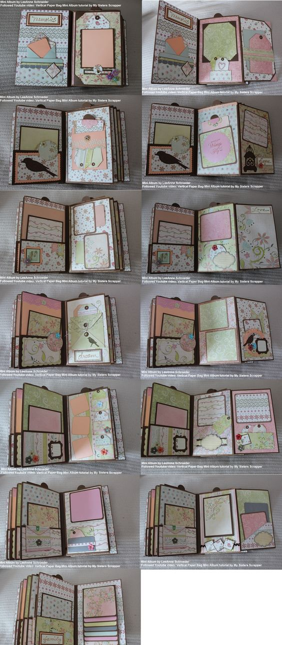 A mini album I made following My Sisters Scrapper tutorial on Youtube