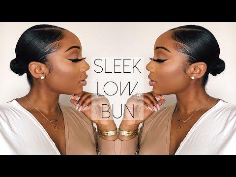 Sleek Low Bun Tutorial Relaxed Hair Tamara Renaye Relaxed Hair Short Relaxed Hairstyles Relaxed Hair Care