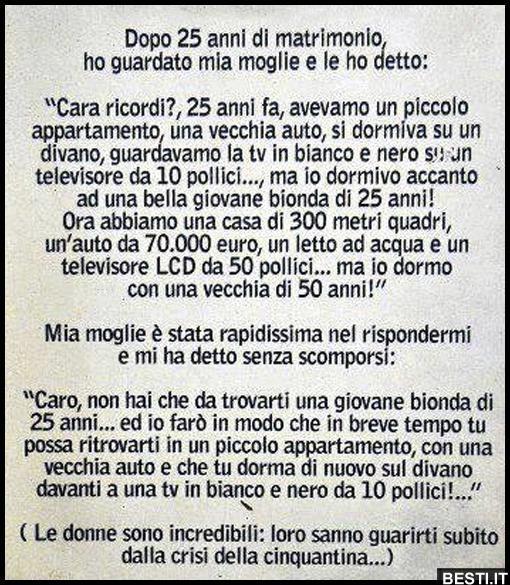Frasi Matrimonio In Crisi.Dopo 25 Anni Besti It Immagini Divertenti Foto Barzellette