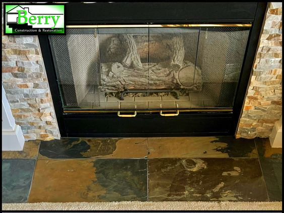 Fireplace Facelifts Are Such An Easy Inexpensive Way To Dress Up A Living Room Dining Room Or Maste Fireplace Remodel Gold Basket Living Room With Fireplace