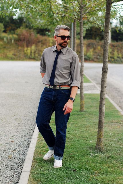 innovative casual tie outfit men 13