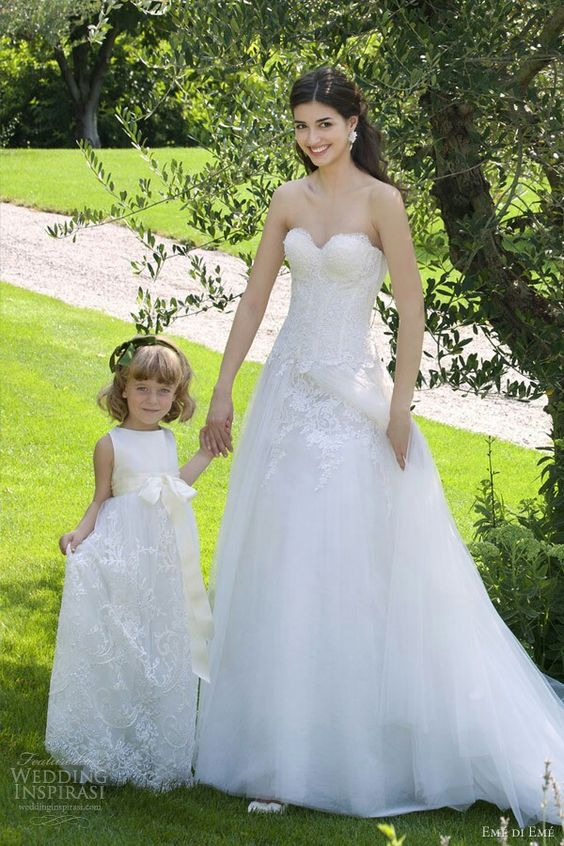 Simple but beautiful matching gowns