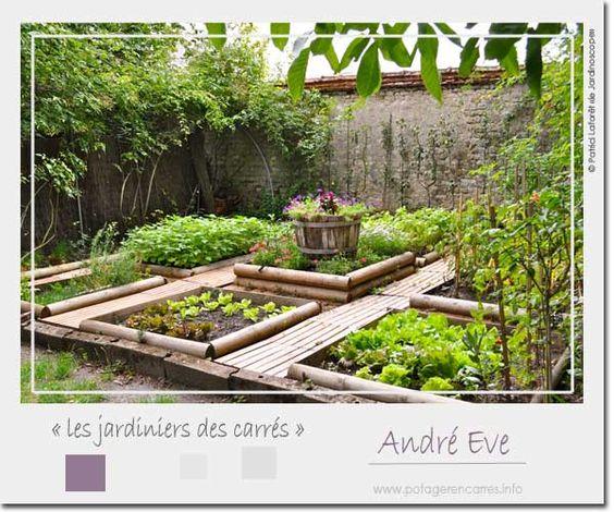 Le potager en carr s d 39 andr eve un exemple de potager en for Site de jardinage en ligne