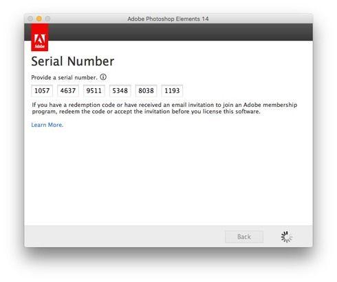 Lightroom serial numbers