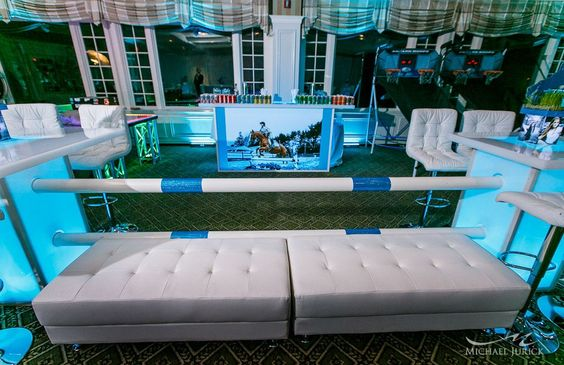 Equestrian Themed Bat Mitzvah With Horse Jump Decor And Lounge Furniture By Diana Gould Ltd