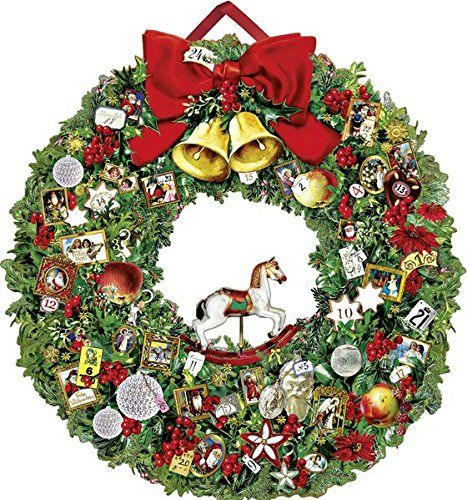 Festlicher Weihnachtskranz (Adventskalender) von Barbara…