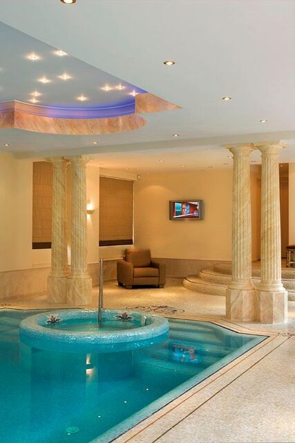 This Is The Elegant Indoor Pool We Designed With Our Mosaic In A Luxury Spa In Eindhove Indoor Swimming Pool Design Swimming Pool Designs Indoor Swimming Pools