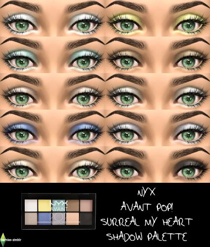 Sims 4 CC's - The Best: Eyeshadows by Bernies Simblr