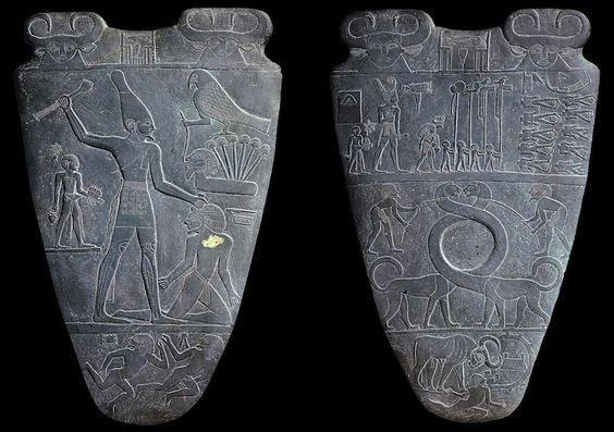 Palette of King Narmer, from Hierakonpolis, - 49.1KB