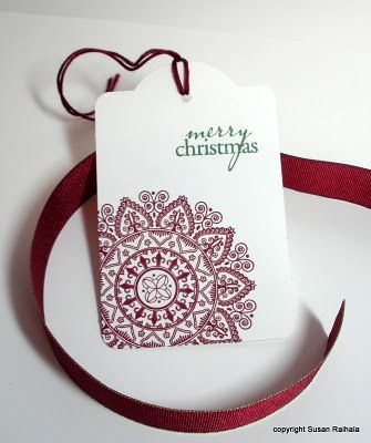So my Christmas tag this year! Susan Raihala - simplicity post on tags and wrapping