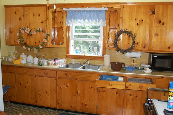 Knotty Pine Kitchen Cabinets 50s Knotty Pine Kitchen A
