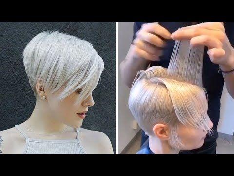 Gonanissima New Pixie Haircut Tutorial Compialtion 2020 Bob Coupes De Cheveux Long Pixie Coupe De Cheveux Coupe Courte Degradee
