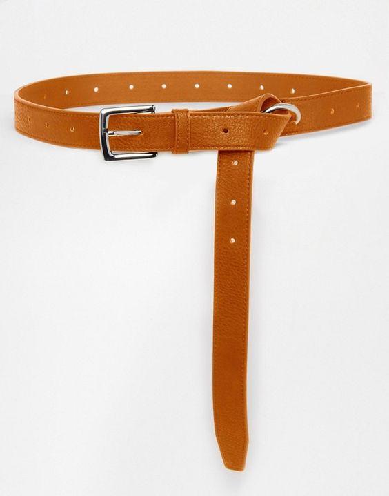 Pieces Waist & Hip Knot Detail Belt