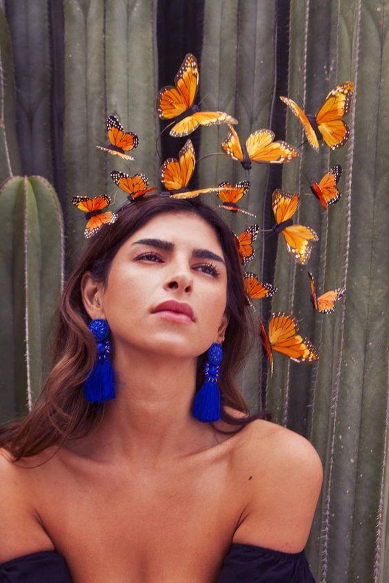 Monarch Butterfly Costume Fascinator Headpiece | Etsy