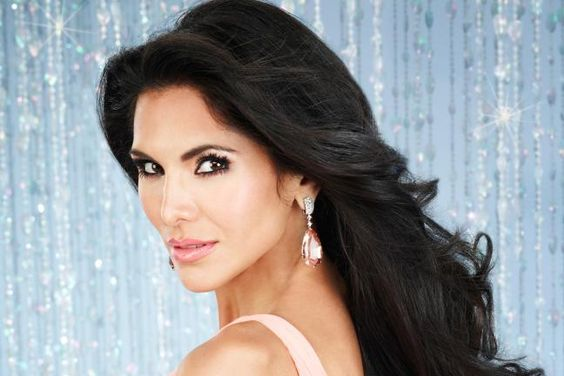 Joyce Giraud - she says her hair is real, and on Andy Cohen's show let him feel it to prove there were no extensions. Joyce says she only washes her hair once a week to keep it healthy. That's what Connie Britton and Nicole Scherzinger say, too!