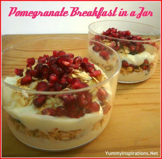 Pomegranate Breakfast In a Jar