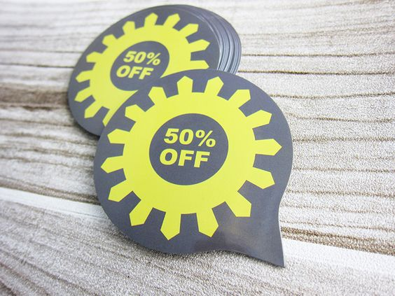 Let your customers know you're having a sale with die-cut stickers! http://www.emberprint.com/