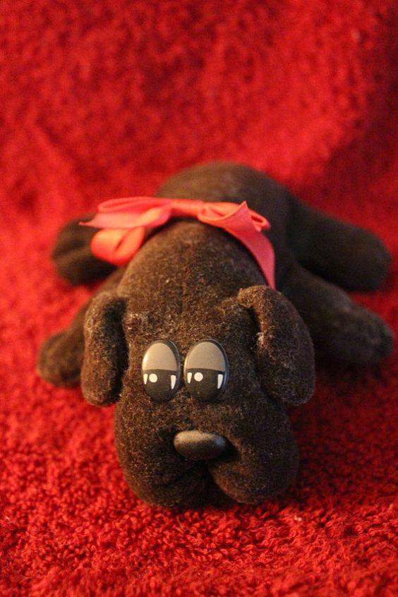 Mini Pound Puppy  Dark Brown  Plush Stuffed by DLRPhotography, $10.00