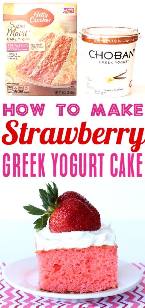 Strawberry Cake Recipe Easy Cake Mix Recipes Make The Perfect Desserts This Decadent Dessert Wi Greek Yogurt Recipes Strawberry Cake Recipes Yogurt Recipes