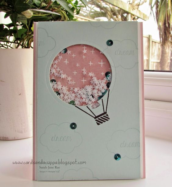 Stampin' Up UK Demonstrator Sarah-Jane Rae Cards and a Cuppa blog: Using Celebrate Today by Stampin' Up! to make a Shaker Card - Two Ways