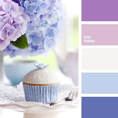 Dusty pink bright blue color choice color palette - Purple and blue combination ...