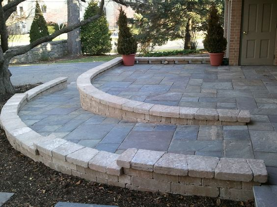 Really nice ramp from Norland Landscape in Waukesha WI