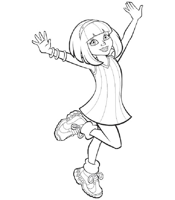 Lazy town coloring pages for kids free online printable for Lazy town coloring pages