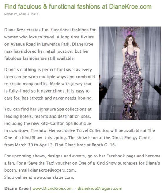 Diane Kroe Fashion Function