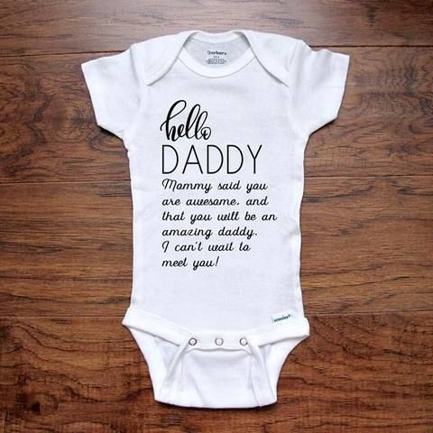 Dad To Be Bodysuit Sleepsuit New Baby Vest Newborn Surprise You Are Going To Be A Daddy Pregnancy Announcement Vest