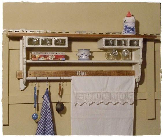 Küchenregal, Wandregal,  Shabby von Ansolece auf DaWanda.com