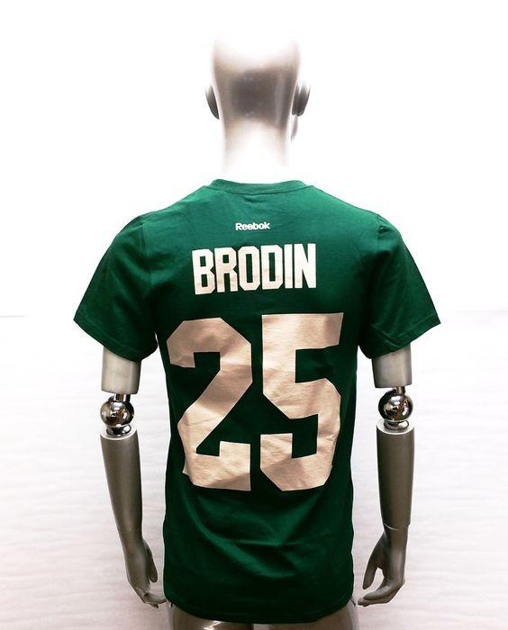 25 green nhl jersey 02b8d a23d9  sweden salute to service mens reebok jonas  brodin minnesota wild green player t shirt minnesota wild 71cff3dd7