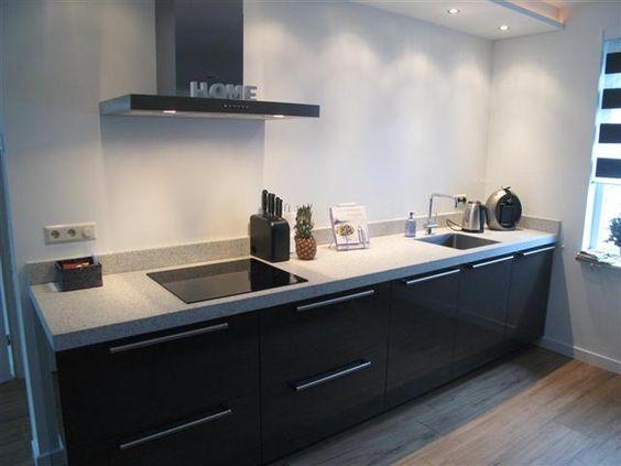 Mooie design keuken met graniet werkblad