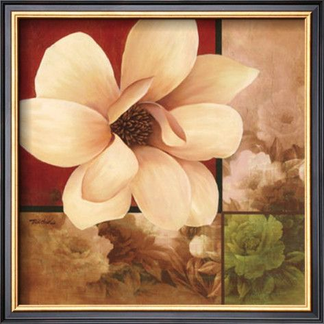 Magnolia Collage Framed Art Print