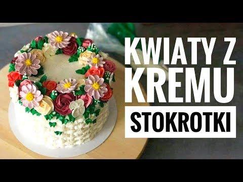 Seria Kwiaty Z Kremu 8 Stokrotki Youtube Desserts Food Cake