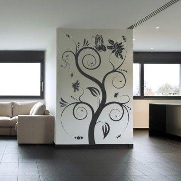 Butterfly Tree Wall Sticker Embellishment Wall Art