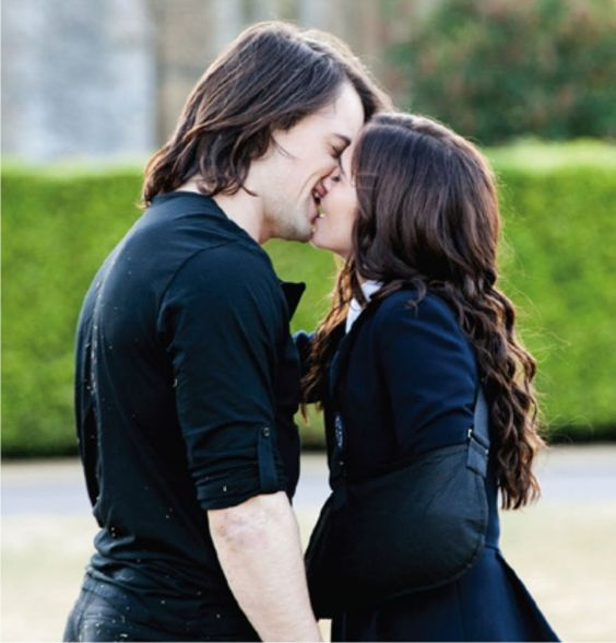 dimitri belikov and rose nice moment on the set of Vampire ...
