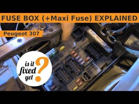 fuse box (incl maxi fuse) explained peugeot 307 sw number 307 fuse box on a peugeot 307 #14
