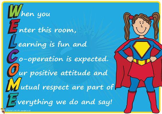 Teacher's Pet - 'Welcome' Superhero Themed Poster - FREE Classroom Display Resource - EYFS, KS1, KS2, Super, heroes, hero, door, sign, welcome